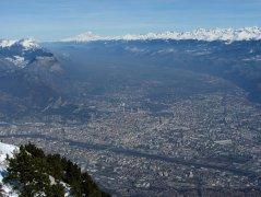 Vue classique sur Grenoble