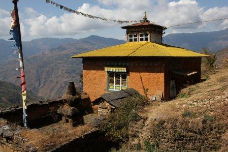 Le monastère et son stupa