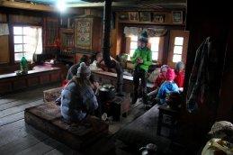 Le réfectoire des moines à l'étage