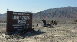 Pause du midi : seule ombre possible, le panneau de Nazca !