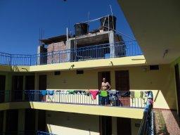 Jour de lessive à l'hôtel Los Andes