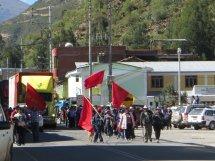 Les manifestations de chalhuanca : deux à trois fois par jour, tout de même !