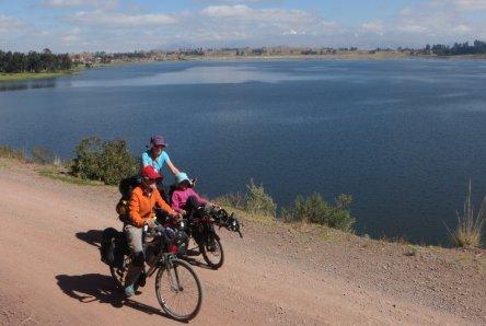 Départ de la Laguna Piuray
