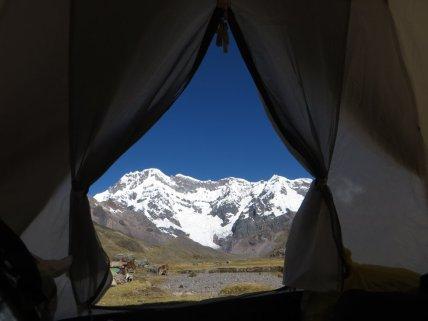 Vue depuis la tente, le matin