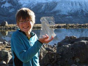 Sculpture de glace au matin