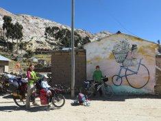 """Fresque """"vélo"""" à Chall'pampa"""