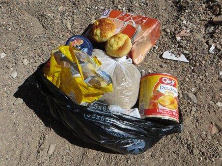 Le sac de nourriture donnée très gentiment par l'hôtel El Desierto