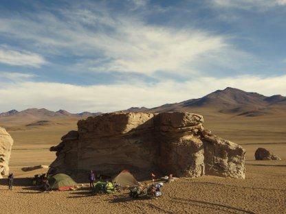 Bivouac à l'Arbol de Piedra
