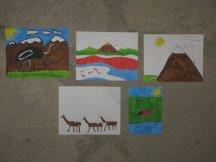 Les enfants remercient Luis par des dessins