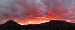 Coucher de soleil derrière le Licancabur