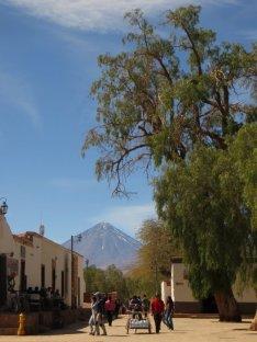 Le Licancabur dans le village de SPA