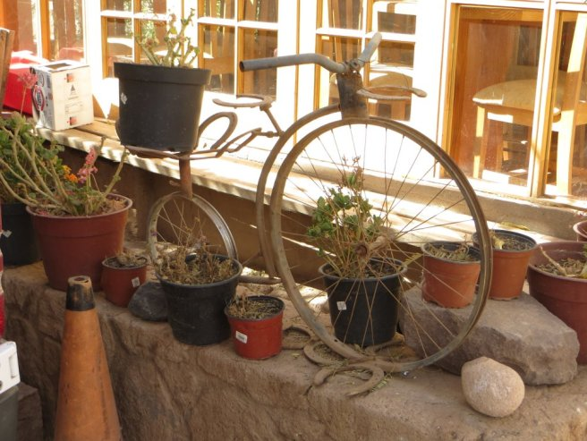 "Un ""bo"" vélo pot de fleurs"