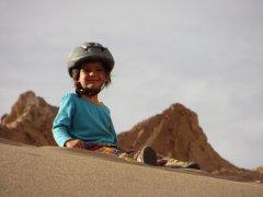 En haut des dunes