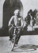 Einstein en photo à bicyclette, sur un poster déniché dans une rue de BA
