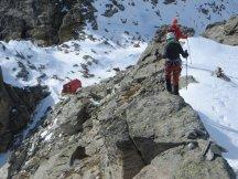 Sur la crête frontalière, en descendant vers le Col d'Ambin