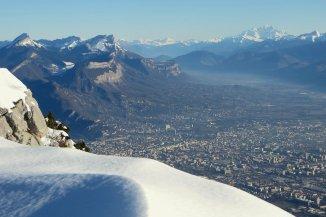 Grenoble et le Mont Blanc vus du Vercors