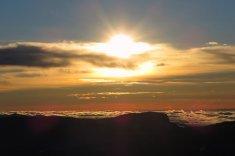 Coucher de soleil depuis la crête de la Grande Roche Saint Michel