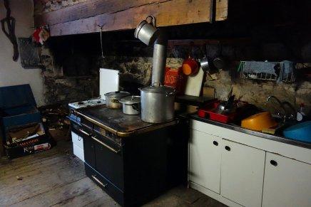 La cuisine du refuge de Borneval