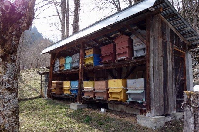 Maison de ruches à Valmaure