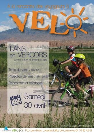 """Affiche """"A la rencontre des voyageurs à vélo"""" - 2016"""