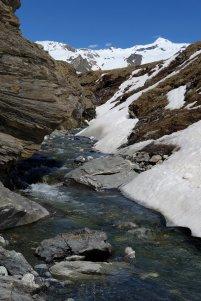 La rivière à traverser au retour