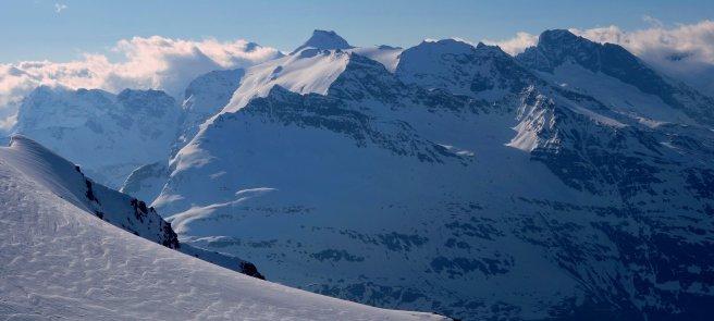 Vers l'Albaron, depuis le sommet de Méan Martin