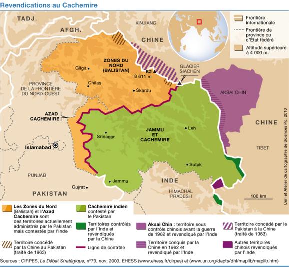 Source : Christophe Jaffrelot, « Le Cachemire en quête de frontières », CERISCOPE Frontières, 2011