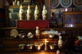 Offrandes décorées à base de tsampa et de beurre
