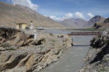 Pont après Kaza, pour rejoindre la rive gauche droite de la Spiti