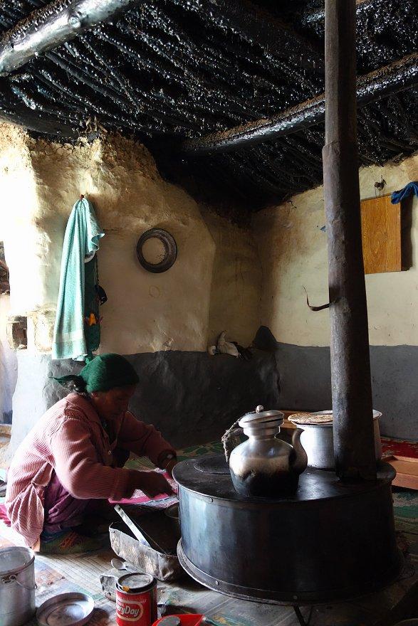 Chez les parents de Lobsang à Testa