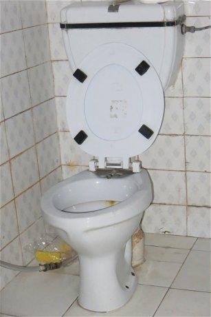 Toilette à jet d'eau intégré !