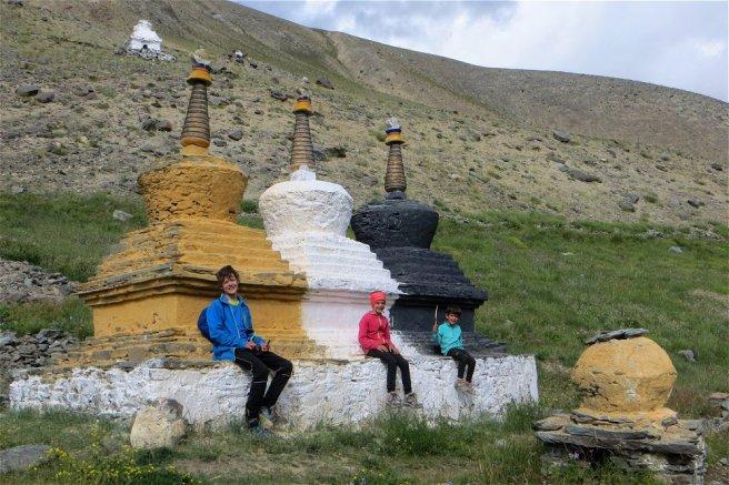 Stupas dans le Zanskar (village de Testa)