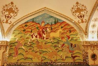 """Fresques du restau figurant une chasse de """"pazan"""""""