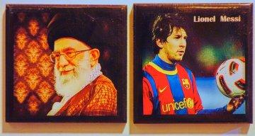 Magnets souvenirs dans le bazar : Messi versus messi...