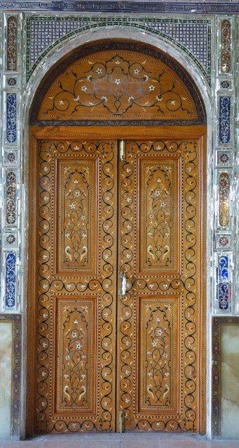Marquetteries des portes