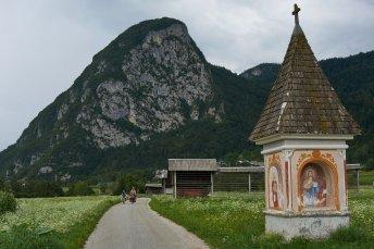 Un des nombreux oratoires ornant les montagnes slovènes