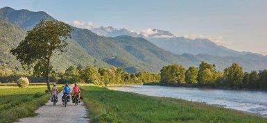 Le long des berges de l'Isère, peu après Pontcharra