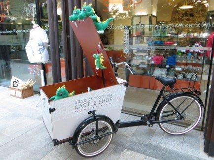 Vélo-dragon, emblême de la ville