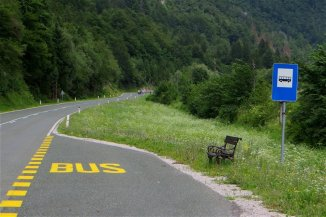 Bel arrêt de bus !