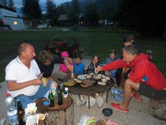 Invitation à partager un barbeuk', avec des Allemands à Dobbiaco