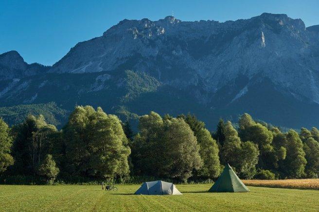 Bivouac à l'est de Notsch, dans la vallée de la Gail