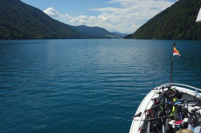 Bateau permettant de traverser le lac de Weissensee