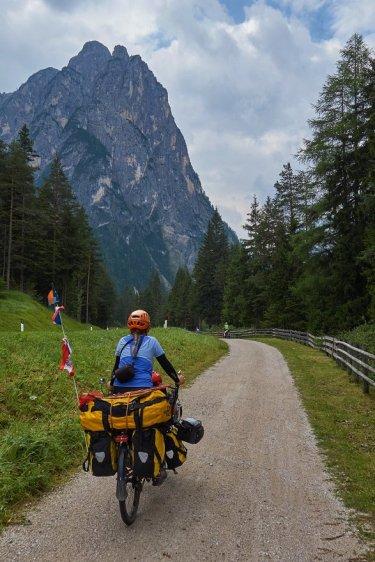 En quittant Dobbiaco - Val di Landro
