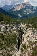 Vue impressionante sur les gorges depuis le Ponte Outo (aval)