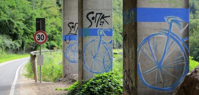 Urban art, dans la fin de la descente sur Bolzano