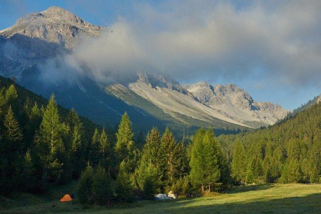 Bivouac dans le Val Vau (Suisse)