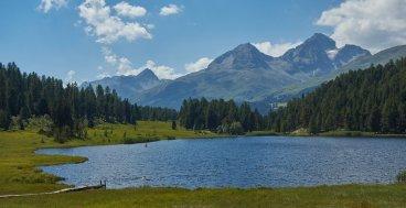 Lac de Stax, avant Saint Moritz