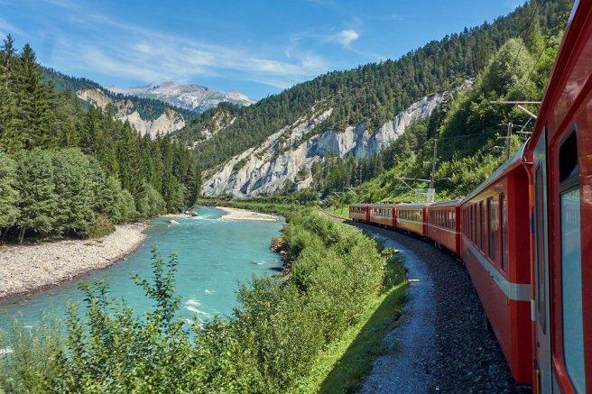 En route pour l'Oberalp-pass