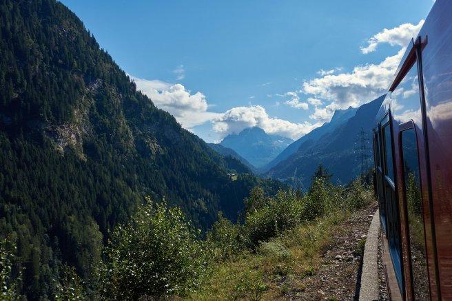Mont-Blanc Express, en montant sur Vallorcine