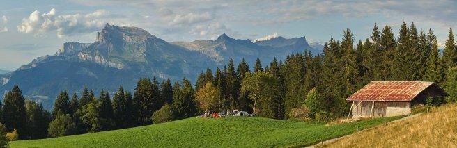 Campement à Prapacot (au-dessus de Megève)